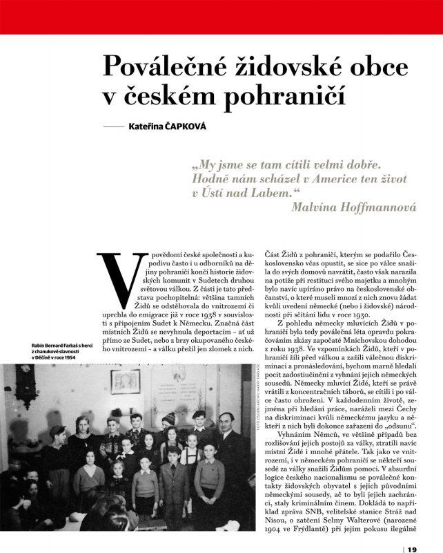 Poválečné židovské obce v českém pohraničí